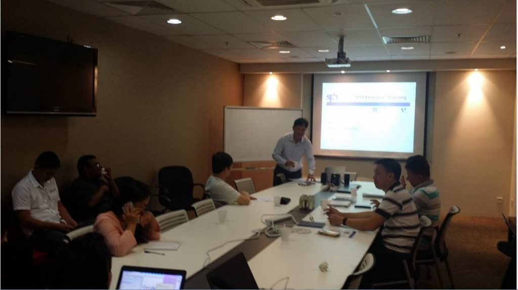 Singapore Press Holding Vendor Training